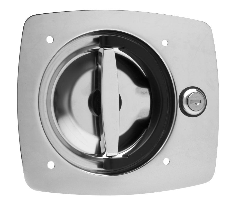 Key-Locking Recessed D-Handle 9020-SSR-32