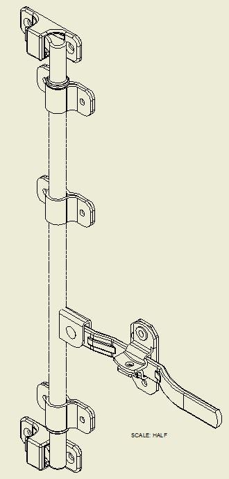 Cam Type Lock Package for Swing Door S-5654-XP24-25