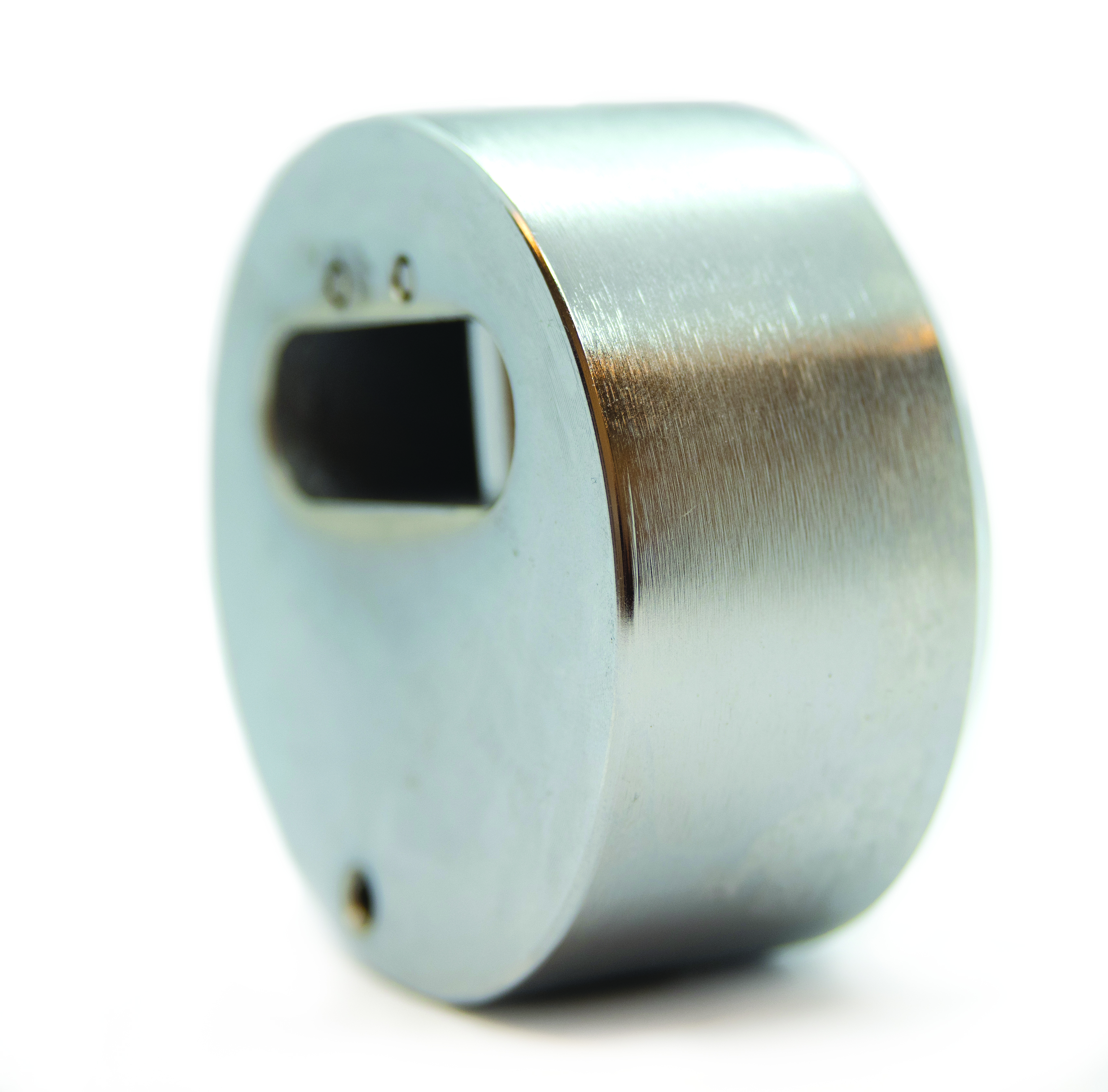 930 Series Puck Lock with Flat Back and Hardened Steel Body 930KIK
